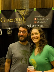 The Greenbush Booth at Bluechip Brewfest. Sadly, I can't find where I wrote down these lovely folks' names. I am not the most stellar blogger. Photo by Kristi Leach