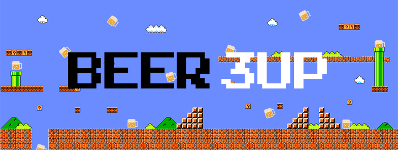 A header image for the Beer 3Up event! Beer + Video Games = AWEOME.